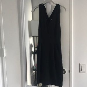 Banana republic black bow-back dress